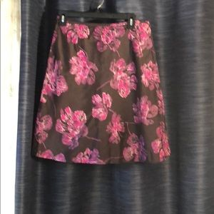 Silky Ann Taylor floral skirt